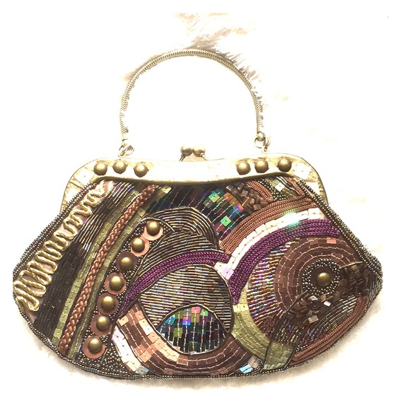 Chico s Bags   Chicos Vintage Multi Colored Beaded Evening Bag ... c81463f33b